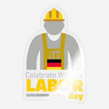 Labour Day labour day - Sticker