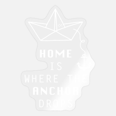 Origami PAPER SHIP ORIGAMIS No.1 HOME IS WHERE THE ANCHOR - Sticker