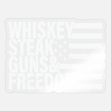 Stasi whiskey steak guns freedom - Sticker