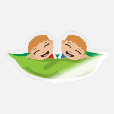 Wonder Twins Twins Boys Two Peas in a pod Twin Babies Gift - Sticker