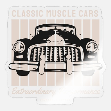 Cars T Shirt Muscle Car - Classic Muscle Cars - Sticker