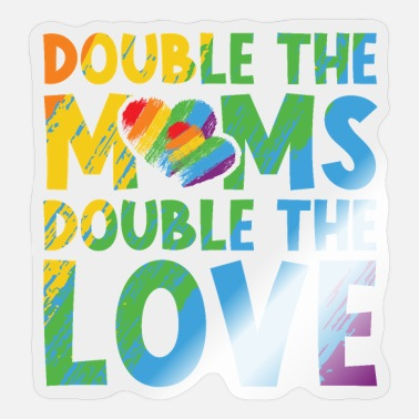 Doubles Double the Moms Double the Love - Sticker