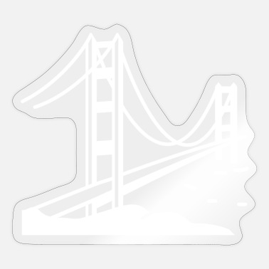 Golden Gate Golden gate bridge san francisco - Sticker