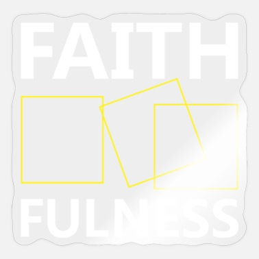 Catholic Jesus T Shirt - Faith Fulness - Sticker
