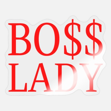 Dollar Sign Boss Lady - Dollar Sign $$ (red letters version) - Sticker
