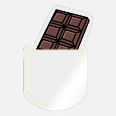 Outfit Chocolate In The Pocket Sweets Gift Idea - Sticker