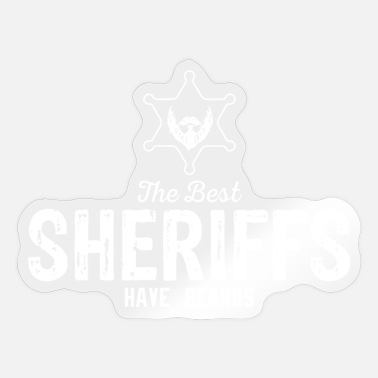 Shotgun Best Sheriff with Beard Sheriff Star Shotgun - Sticker