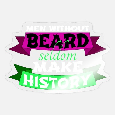 Beard Rules shave beard rules birthday present skull and beard - Sticker