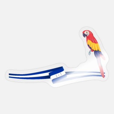 Honduras Honduras | Honduras Flag and Parrot Love - Sticker
