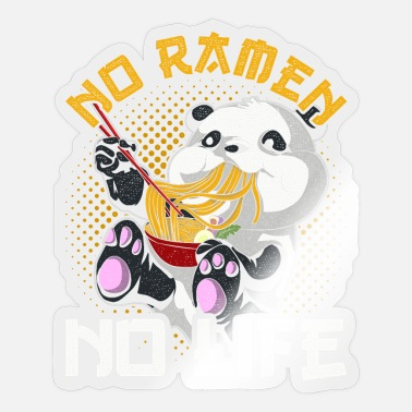 Panda Anime Japan Kawaii Gift Panda Ramen - Sticker