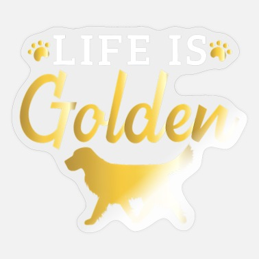 Golden Gate Love Golden Retriever Gift For Dog Owners - Sticker