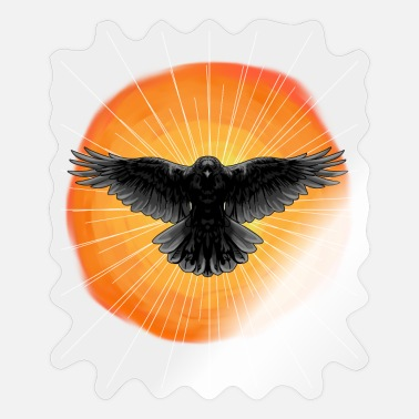 Dark Side Sun Crow Sunshine Shaman Reincarnation Totem - Sticker