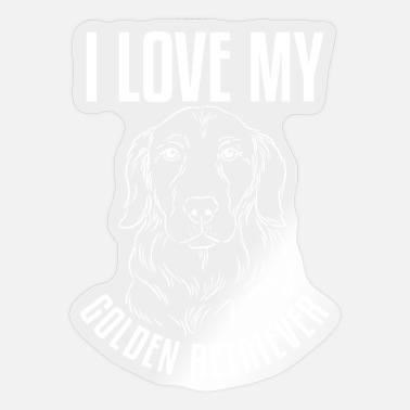 Spirit Animal Golden Retriever Love Friend Cute - Sticker