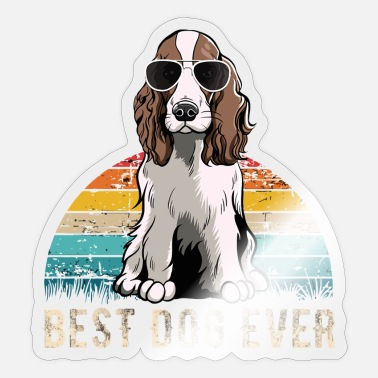 English Springer Spaniel English Springer Spaniel Idea birthday chirst 1729 - Sticker