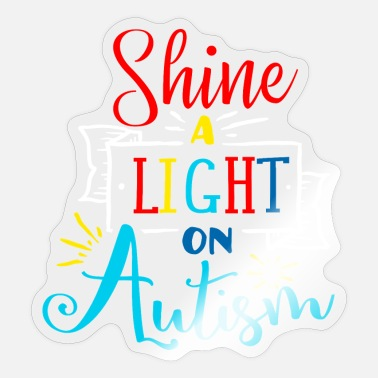 Autism Awareness Day Shine a light on autism color white - Sticker