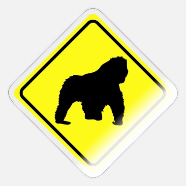 Sign warning sign gorilla - 2 colors - Sticker