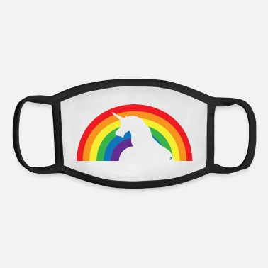 Rainbows And Unicorns Unicorn - Rainbow - Youth Face Mask