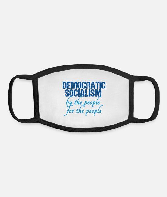 Bernie Sanders Face Masks - Democratic Socialism - Youth Face Mask white/black
