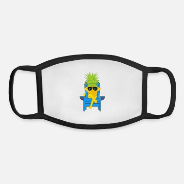 Moleskin Fruit Cool Pineapple With Sunglasses Graphic - Youth Face Mask