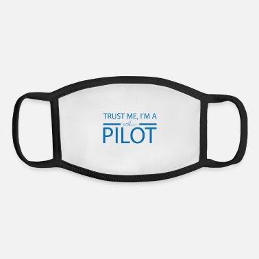 Traffic Trust me i'm a pilot gift airplane copilot - Youth Face Mask