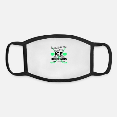 Sugar Spice And Everything Ice Hockey Girl Ice Hockey Girl Sugar Spice Everything Ice Hockey - Youth Face Mask