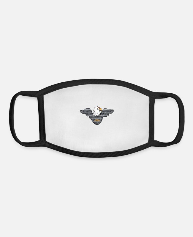 Usa Face Masks - usa eagle ok - Youth Face Mask white/black