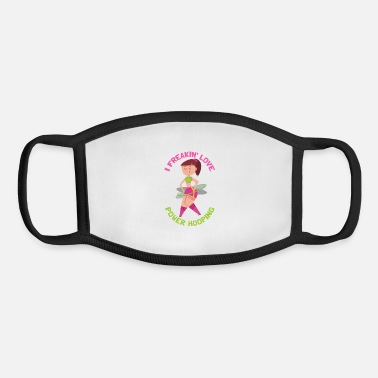 Hoops Funny Hooping Hula Hoop Fans Hoop Dancing - Youth Face Mask