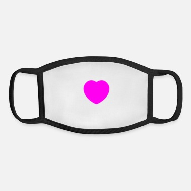 Neon Neon Heart - Youth Face Mask