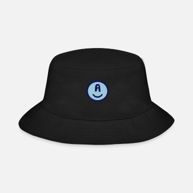 Happy Symbols Circles Smiley Quotes Philosophy ♥☺↷Funny Smiley Alphabet Initial Letter-A↶☺♥ - Bucket Hat