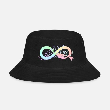 Infinite mermaid infinity Loop 8 under water rainbow - Bucket Hat