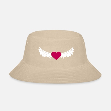 Wings Heart With Wings - Bucket Hat