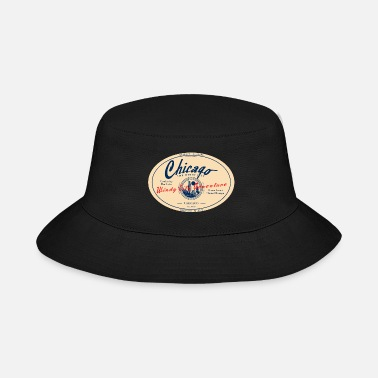 Windy City -CHICAGO-the-Windy-City-A - Bucket Hat