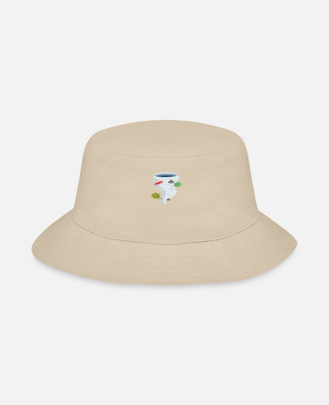Weather Caps & Hats - Awesome Tornado Storm Chaser Severe Weather Lover - Bucket Hat cream
