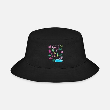 Flamingo Popsicle Swimming Pool Party - Bucket Hat