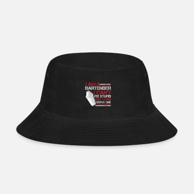 Server Hilarious Bartender Server Barman Mixer Barkeeper - Bucket Hat