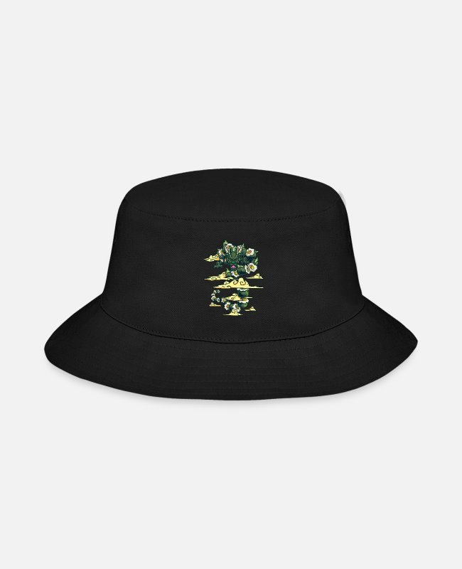 Art Caps & Hats - Sushi Dragon Japanese Art - Bucket Hat black