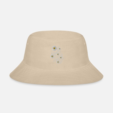 daisy flowers white daisies bloom floral ornaments - Bucket Hat
