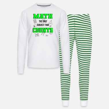 Mathematics School Mathegenie Algebra Geometry Teacher Math - Unisex Pajama Set