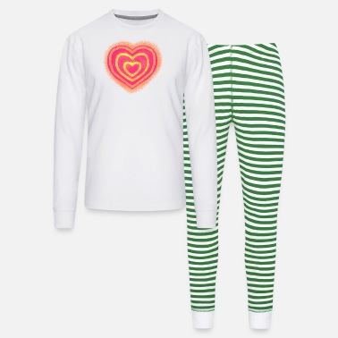 red heart - Unisex Pajama Set