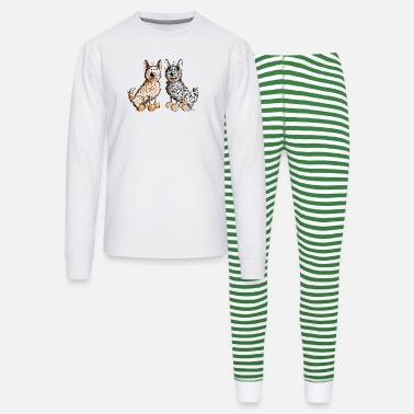 Australian Cattle Dogs Cartoon Two Australian Cattle Dogs - Unisex Pajama Set