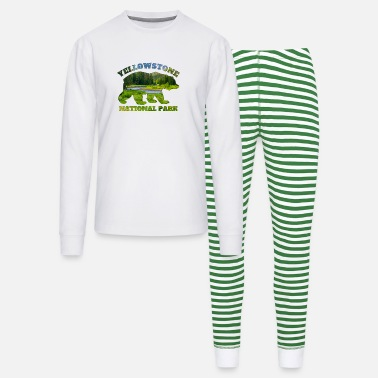 Geraud Yellowstone National Park Bear Nature Landscape - Unisex Pajama Set