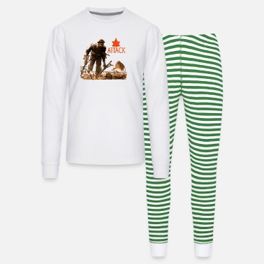 Canadian World War 2 Attack - Unisex Pajama Set