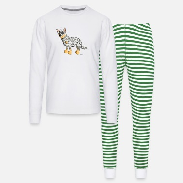 Australian Cattle Dogs Cartoon Funny Australian Cattle Dog - Dogs - Unisex Pajama Set
