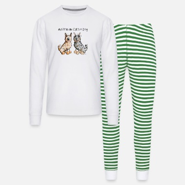 Australian Cattle Dogs Cartoon Two funny Australian Cattle Dogs - Dog - Unisex Pajama Set