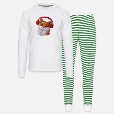 Fox in headphones - Unisex Pajama Set