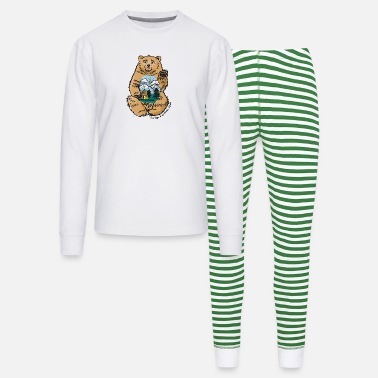 happy belly bear - Unisex Pajama Set