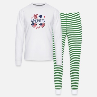 Girl 4th of July Family Matching All-American Girl - Unisex Pajama Set