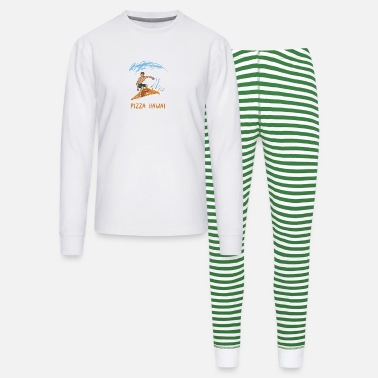 One Piece Pizza Hawaii Food Surfer Wave - Unisex Pajama Set