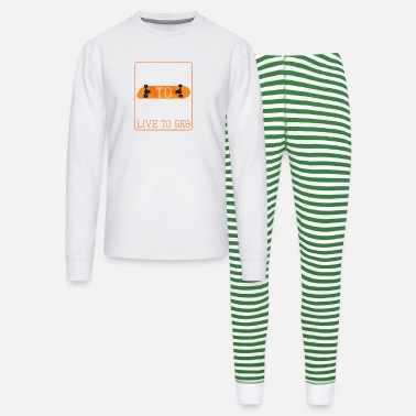Sk8 SK8 to Live Live to SK8 - Unisex Pajama Set
