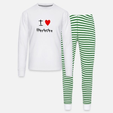 Horrorcore I love Horrorcore - Unisex Pajama Set